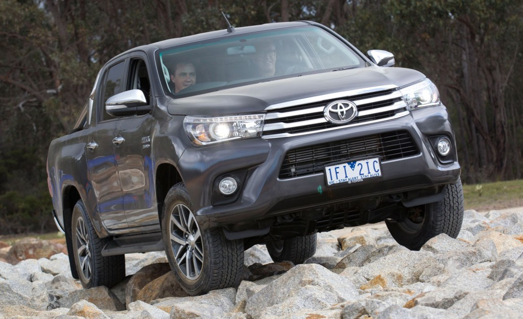 Toyota used the 2015 AFL Grand Final to release its new HiLux ute.