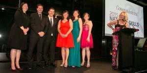 Winners of the Toyota National Skills Development program with Toyota ambassador Kerri-Anne Kennerley