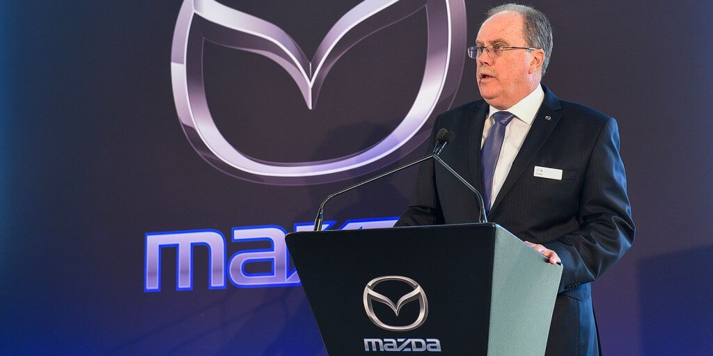Grand opening: Mazda Australia managing director Martin Benders at the opening of the new headquarters in Melbourne's south-east.
