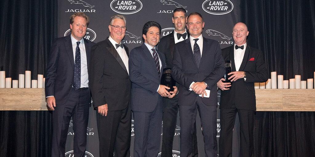 From left to right - Jason Gorell (Rex Gorell Land Rover), Tony Ireland (Tony Ireland Jaguar), Vince Barbagallo (Souther Land Rover), Ryan Sutton (Concord Jaguar), Matthew Wiesner (JLR Australia), Greg Myles (Concord Jaguar)