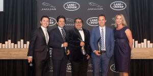 From left to right – Andrew Phillips (JLR Australia), Vince Barbagallo (Southern Land Rover), John Volcanovski (Southern Classic Jaguar), Jonathan Hardwick (Berwick Jaguar), Louise Cassidy (JLR Australia)