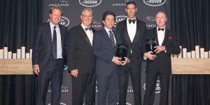 JLRA 15-16 Retailers of the Year winners From left to right – Jason Gorell (Rex Gorell Land Rover), Tony Ireland (Tony Ireland Jaguar), Vince Barbagallo (Souther Land Rover), Ryan Sutton (Concord Jaguar), Greg Myles (Concord Jaguar)