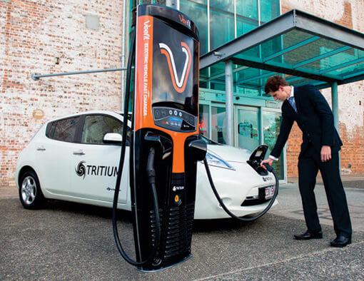 Man-charging-car