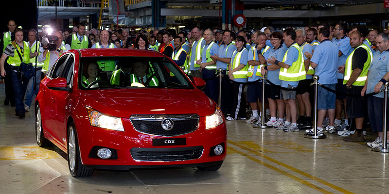 Impact: The Australian-built Cruze reaches the end of the line in less than three months, taking 320 jobs with it from Holden's Elizabeth factory in Adelaide's north.