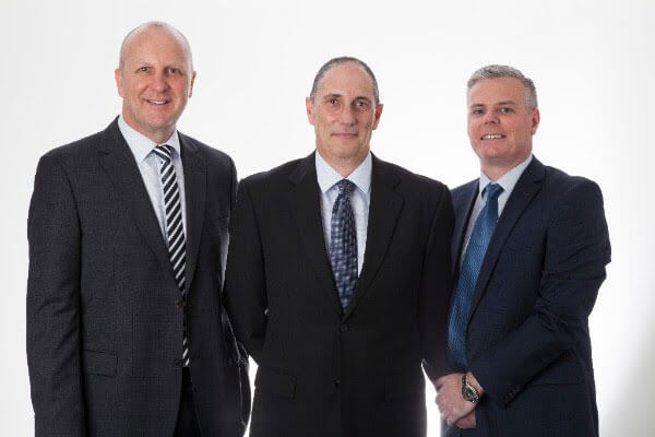 The Executive Leadership team of ZF Services Australia consists of Mr Darren Leyshon, Aftersales Business Manager, Mr Mark Sookias, Managing Director and Mr Mark Lowe, Chief Financial Officer (left-to-right).