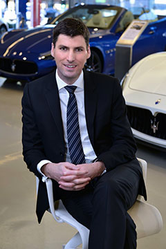 Shining light: Brent Jewell is charged with maintaining the exclusivity of the Maserati brand while running a new and enlarged product supply line – and doubling the brand's sales – with the arrival of the Levante SUV early next year.