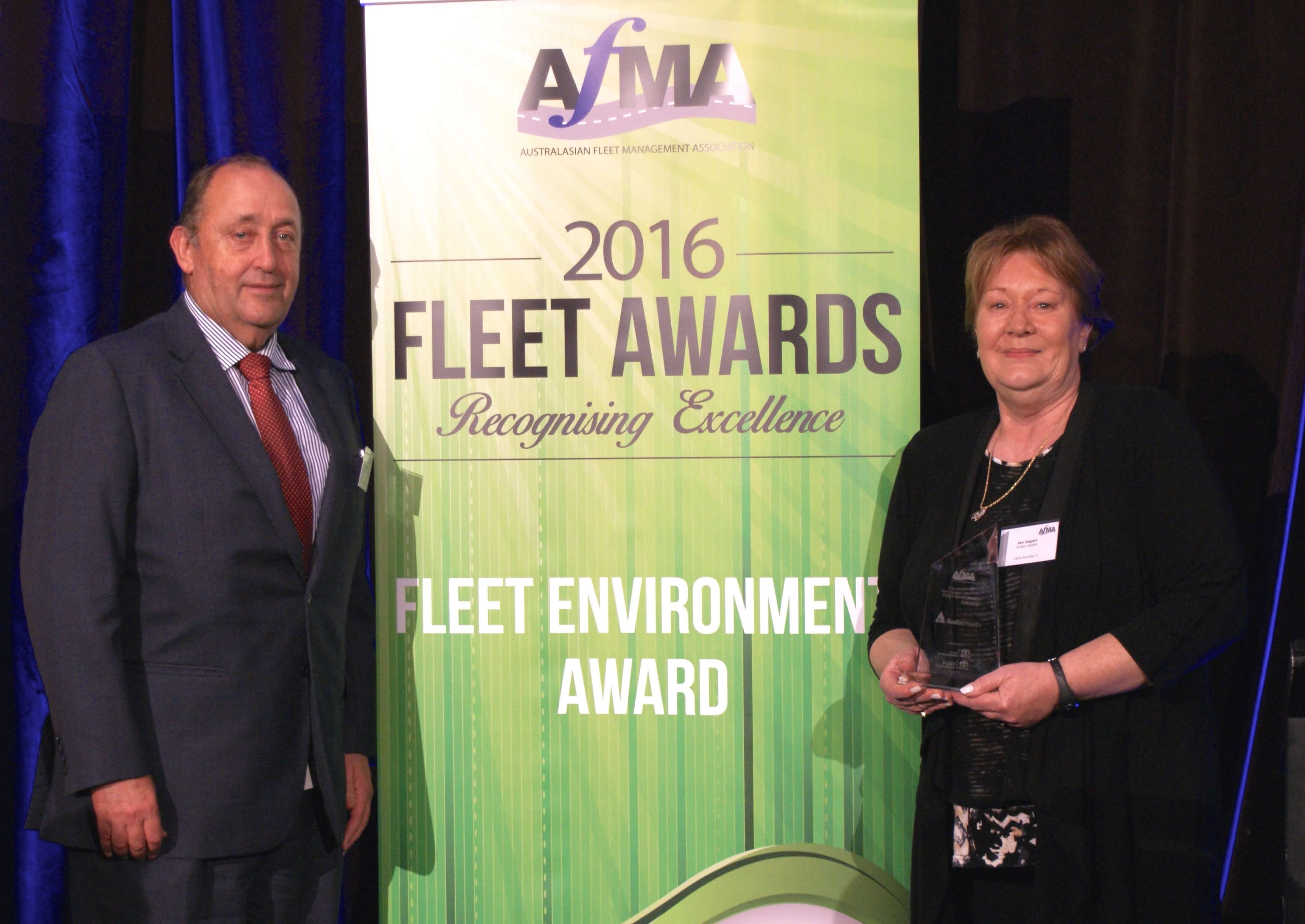 Fleet Environment Award winner Jan Zagari (right)