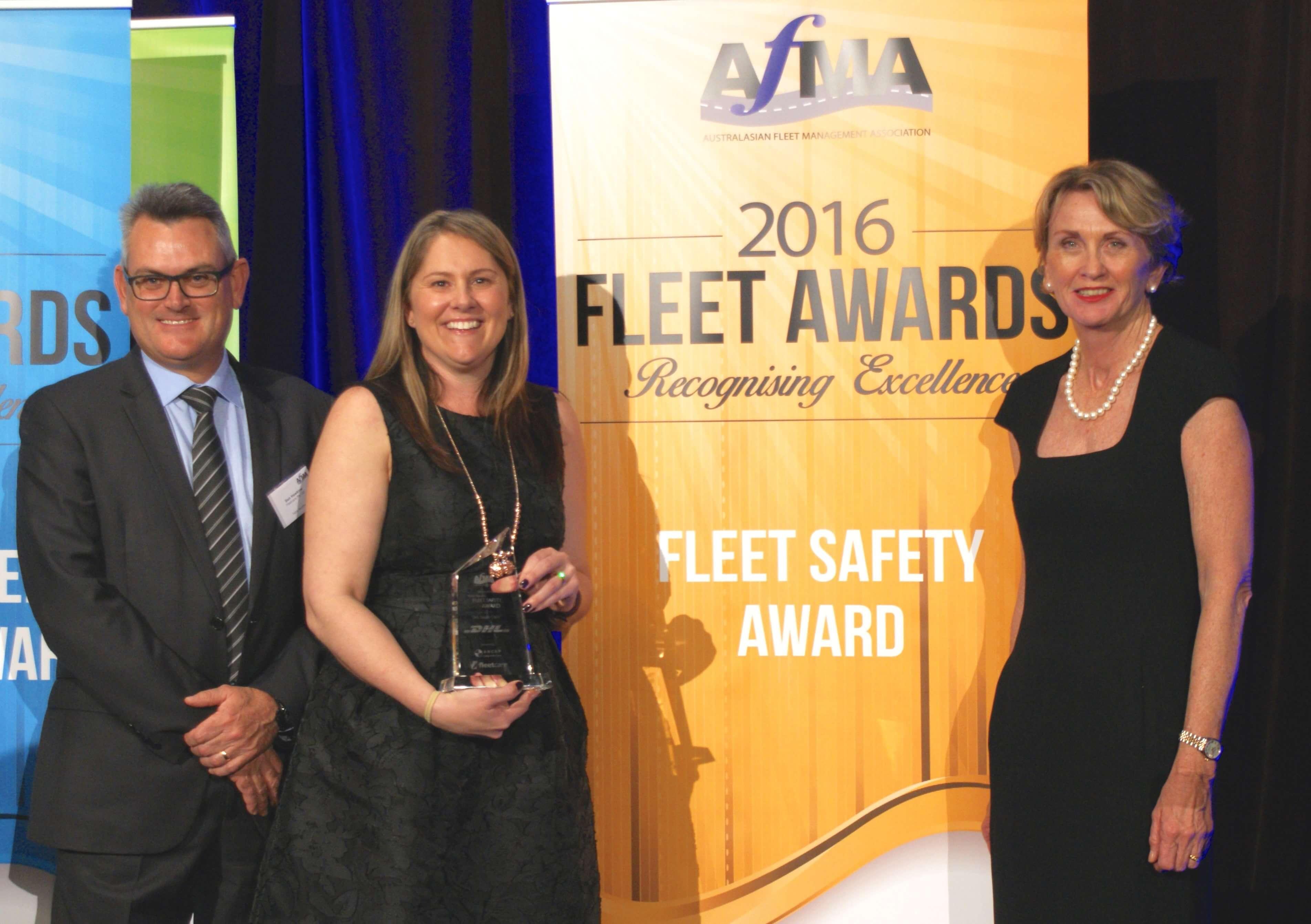 Fleet Safety Award winner Kasey Caston (middle)