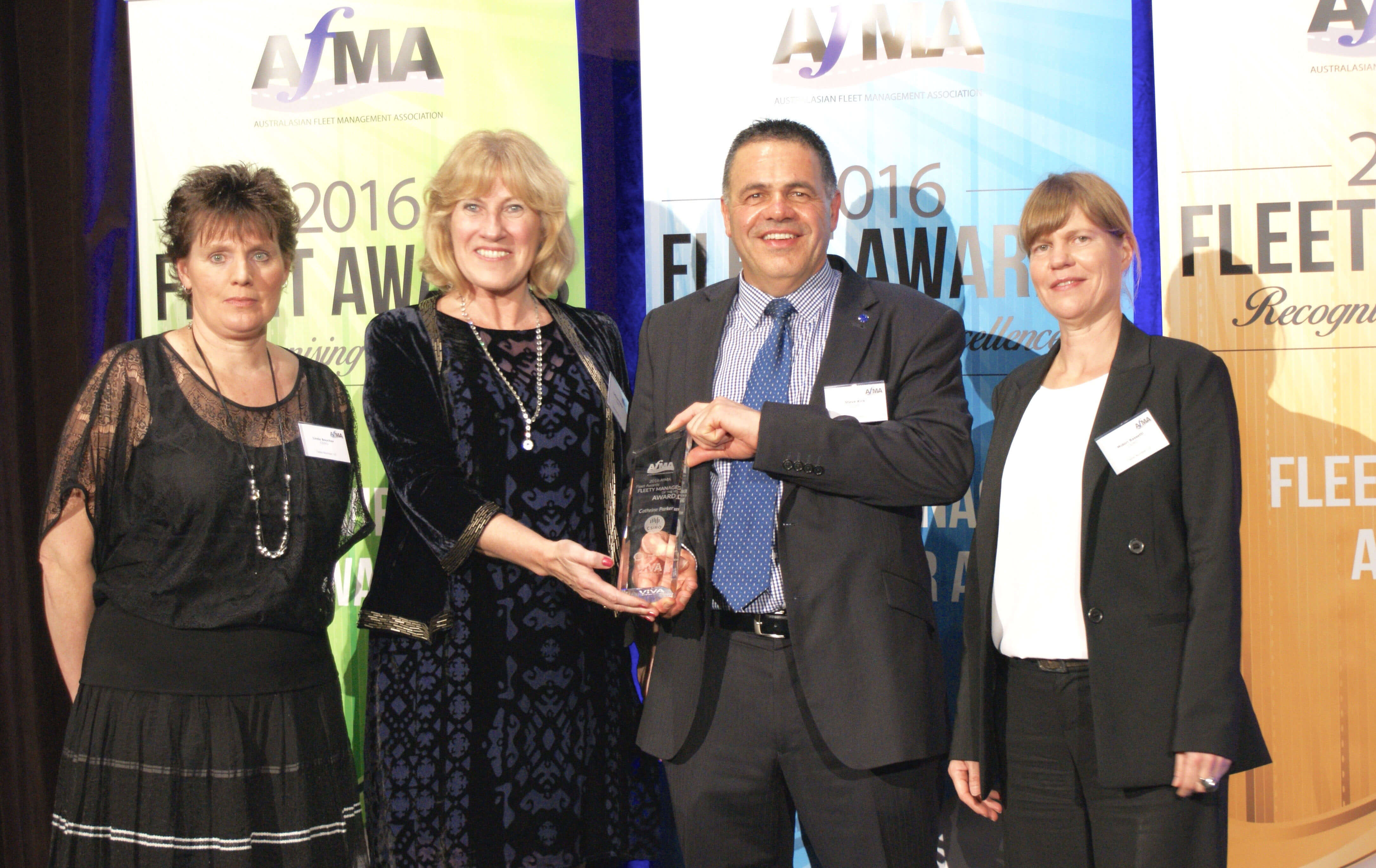 Fleet Manager of the Year Catherine Parker (second from left)