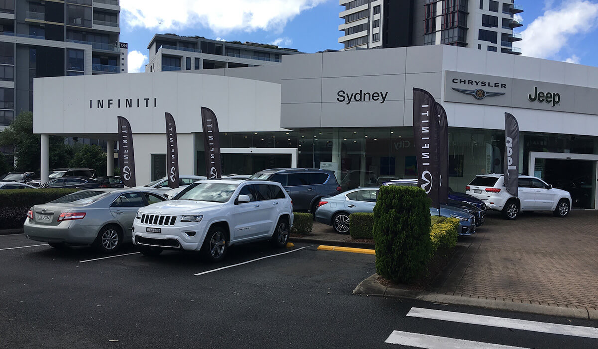 Infiniti Quits Downtown Sydney Store