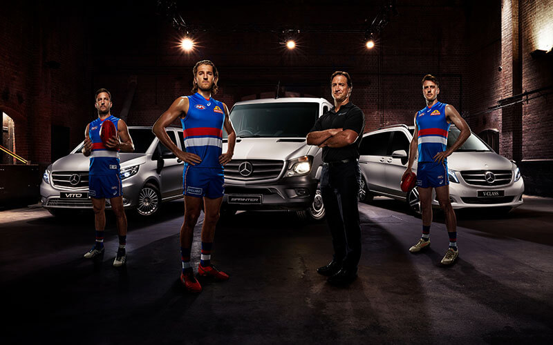 Mercedes benz vans backs the western bulldogs for Mercedes benz brand ambassador