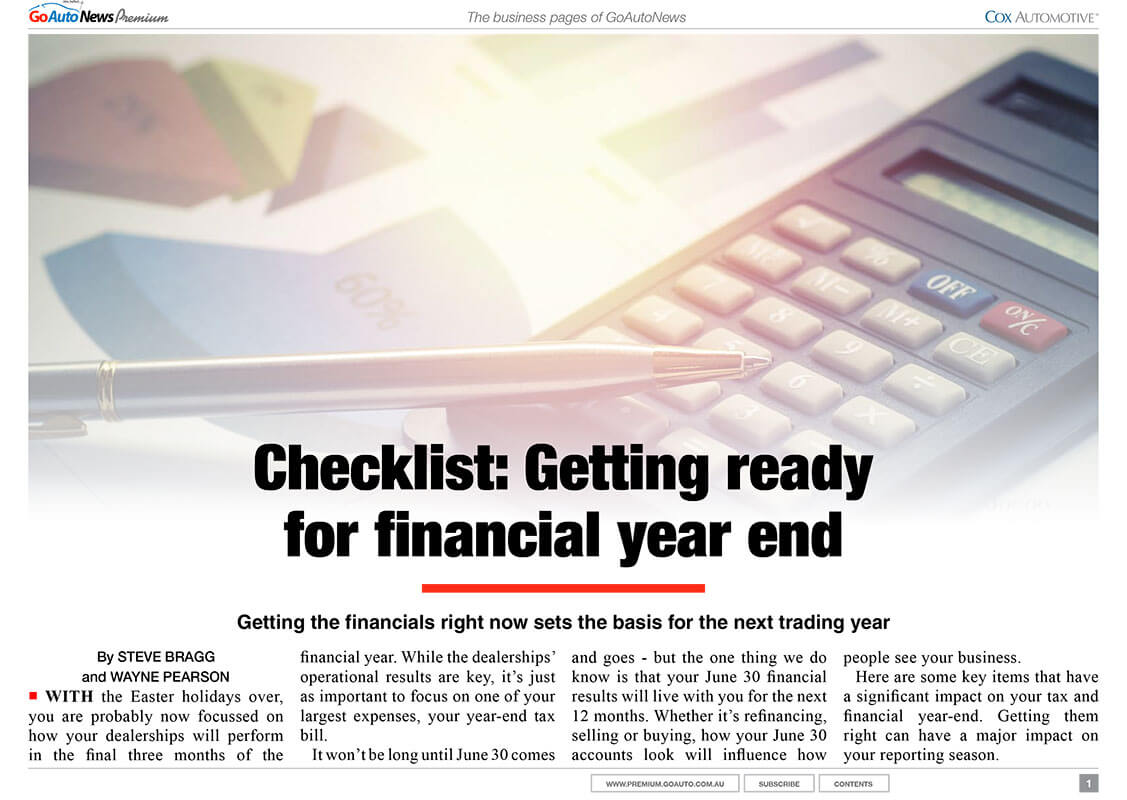 Preparing for financial year's end
